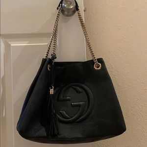 345eab0b0 Women Gucci Soho Black Leather Shoulder Bag on Poshmark
